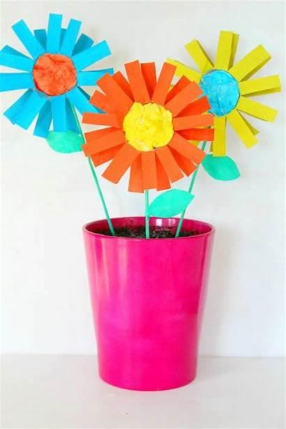 Craft Flowers Paper Kid Diy Fun Cardboard