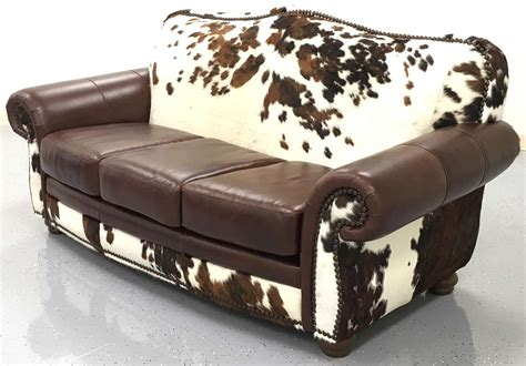 Cowhide Sofa by Rustic Cowhide Sofas Cowhide Couches Free Shipping