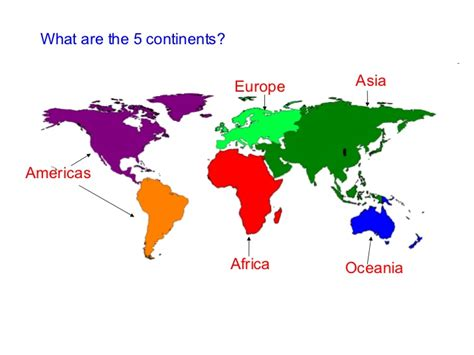 What Are The 5 Continents?