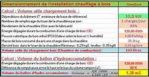 Calcul Volume Litre : dimensionnement calcul chauffage bois hydro accumulation ~ Melissatoandfro.com Idées de Décoration