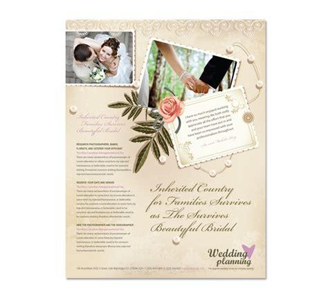 wedding planner flyer template