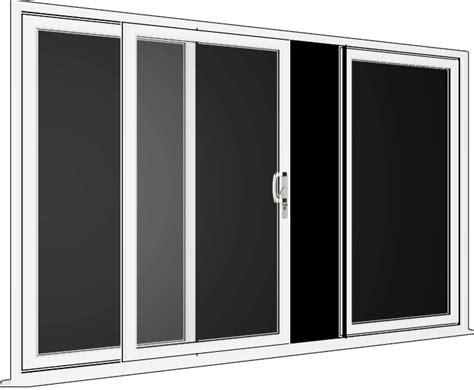 white sliding patio doors 3 pane