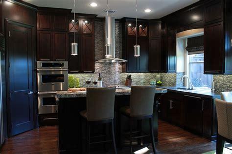 Espresso Kitchen Cabinets Kitchen Contemporary With Custom