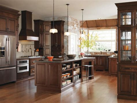 classy kitchen cabinets    cherry wood