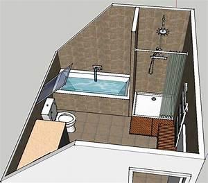 Implantation Salle De Bain : implantation salle de bain et salle d 39 eau 15 messages ~ Dailycaller-alerts.com Idées de Décoration