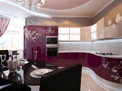 cuisine blanche mur aubergine meuble cuisine couleur aubergine facade de meuble de