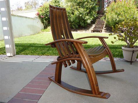 wine barrel rocking chair   etsy wine