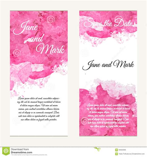 Invitation Card On Wedding Birthday Background With