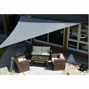 parasol ombrage voile d39ombrage toile solaire triangle With voilage exterieur pour terrasse