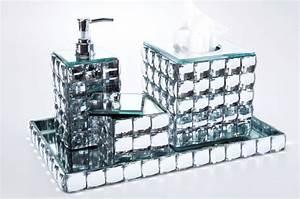 Accessoires Pour Salle De Bain : set accessoires salle de bain diamond salle de bain pas cher ~ Edinachiropracticcenter.com Idées de Décoration