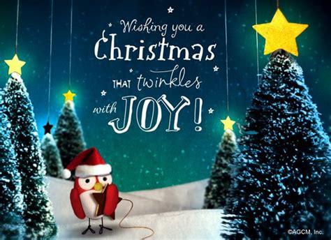 christmas twinkle postcard christmas ecard american
