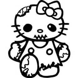 Hello Kitty Zombie Halloween Coloring Pages hello kitty zombie walking dead vinyl sticker for your