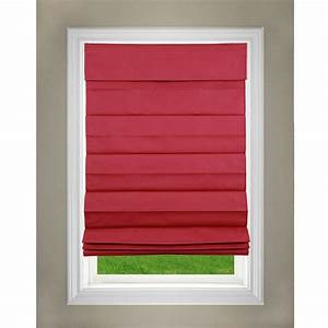 perfect lift window treatment red cordless fabric roman With cordless roman shades for windows