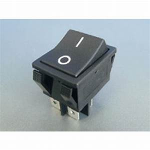Rocker Switch Black On  Off Dpst 16a 250vac Panel Mount