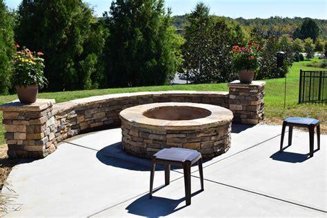 charlotte screen porch patio  stone fire pit lake