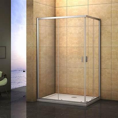 Shower Glass Walk Door Entry Enclosure Corner