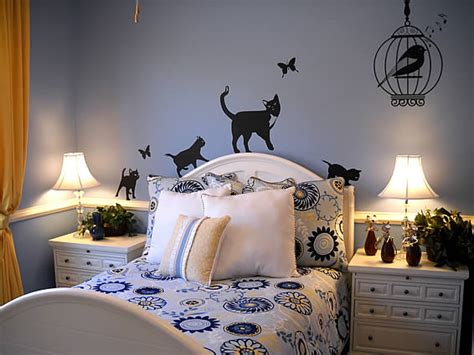 cat themed room february photo wall stickers contest winner dezign blog