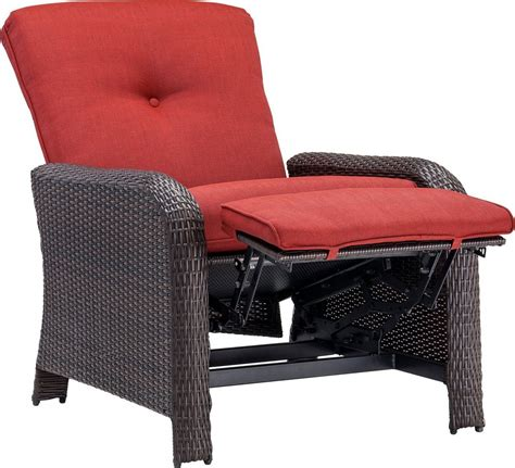 Outdoor Recliner Chair by Hanover Strathmere Luxury Wicker Outdoor Recliner Chair