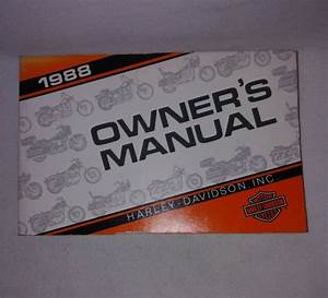 Oem 1988 Harley Davidson All Motorcycle Owners Manual