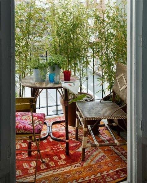 Balkon Gestalten Orientalisch by Bambus Balkon Vs Bambus Terrasse Gestaltungen
