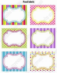 candy shoppe birthday party printable food labels pink With name labels for letters