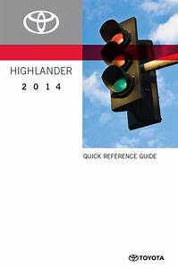 Toyota Highlander Quick Reference Guide 2014 Pdf