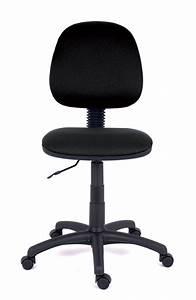 Chaise Tissu Noir : chaise de bureau saturn tissu noir roulettes sol dur ~ Teatrodelosmanantiales.com Idées de Décoration