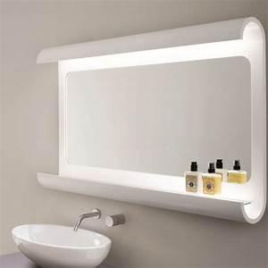 miroir salle de bain lumineux en 55 designs super modernes With salle de bain design avec etagere sous lavabo salle bain