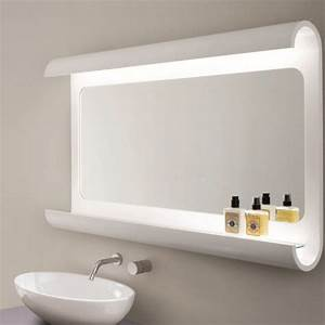 miroir salle de bain lumineux en 55 designs super modernes With miroir de salle bain
