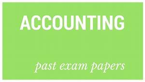 Past Matric Exam Papers  Accounting