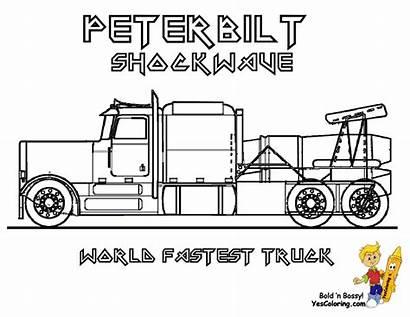 Coloring Truck Pages Peterbilt Trucks Boys Semi