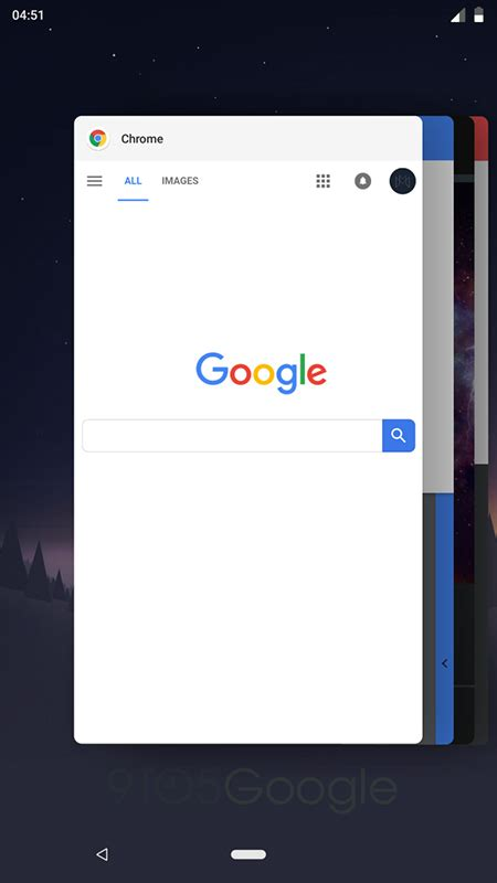 android p nav bar   apps page