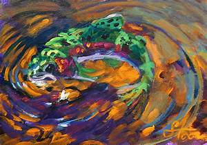 Trout And Fly Painting by Savlen Art