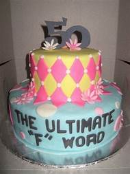 Funny 50th Birthday Cake