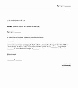 Disdetta Contratto di Locazione Modello Word e
