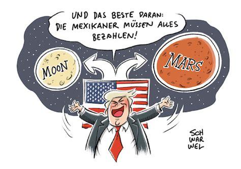 Trump Mond Mars By Schwarwel   Politics Cartoon   TOONPOOL
