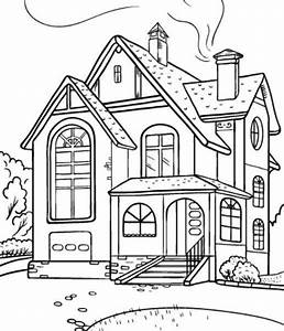15 Materi Mewarnai Gambar Rumah Sederhana