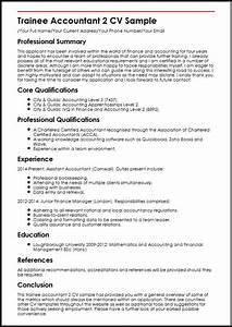 Trainee Accountant 2 CV Sample