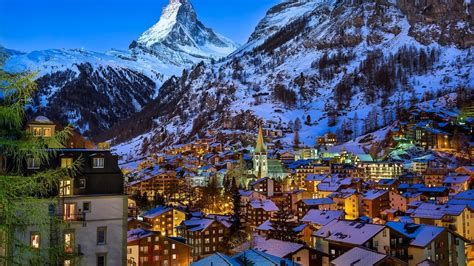 winter  zermatt valley switzerland