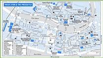 Lyon city centre map