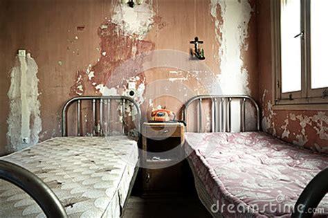 creepy dirty  abandoned bedroom stock photo image