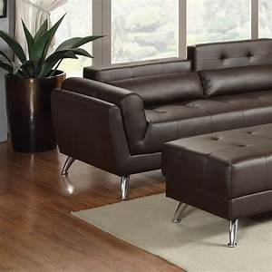 new sectional poundex leather espresso sofa hot sectionals With espresso tufted sectional sofa corner chaise
