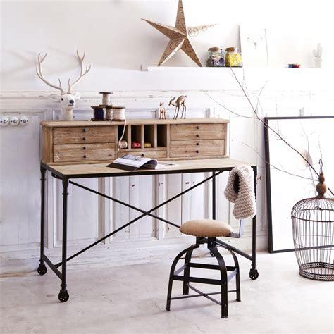 bureau en pin pas cher secrétaire en pin bureau style industriel pas cher