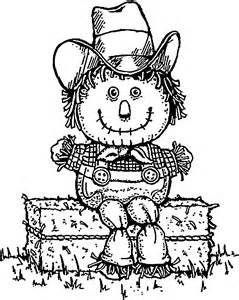 Thanksgiving Scarecrow Coloring Page