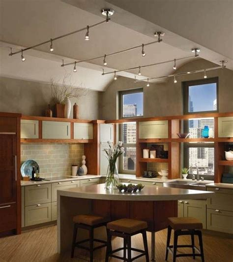 track lighting kitchen sloped ceiling 11 stunning photos of kitchen track lighting interior 8574