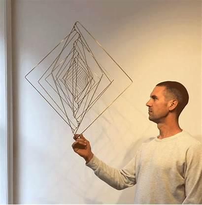 Kinetic Sculpture Fibonacci Sequence Based Square Twists