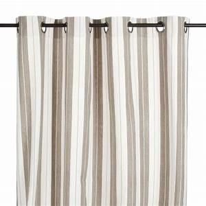 Stores Et Rideaux Com : rideau illets en coton ray lin et blanc belluzzi ~ Dailycaller-alerts.com Idées de Décoration