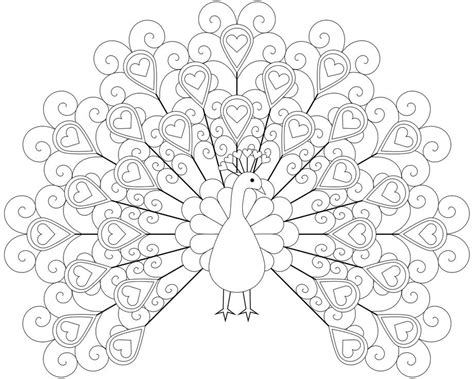 Printable Animal Peacock Coloring Pages