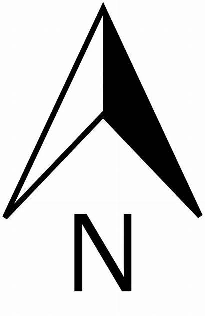 North Svg Pointer Nordpfeil Wikipedia Map Symbols