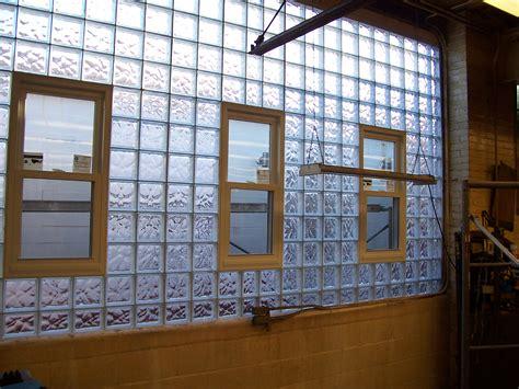 contemporary glass block shower window  vent